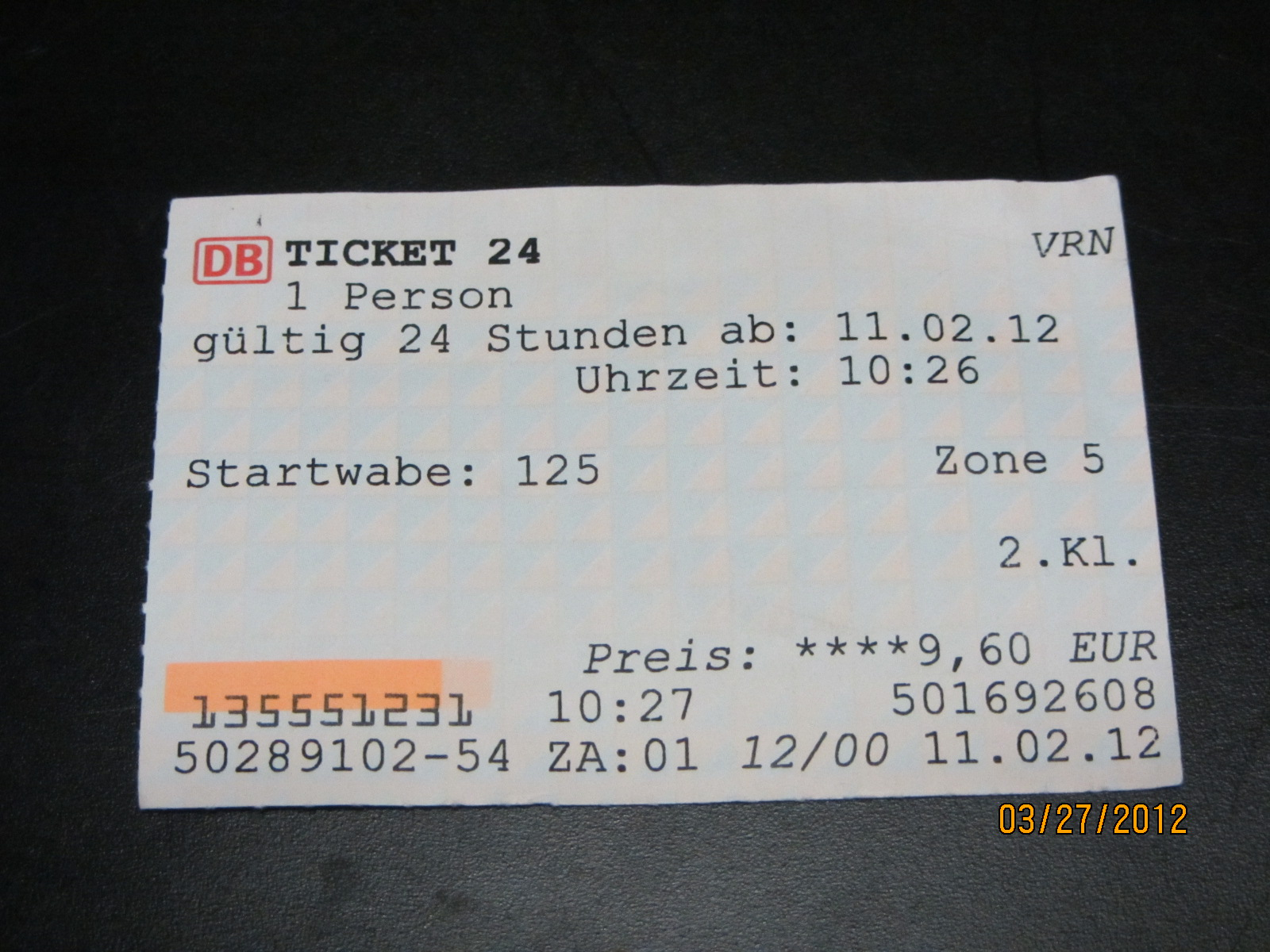 A single person 24 hr ticket from Heidelberg to Mannheim