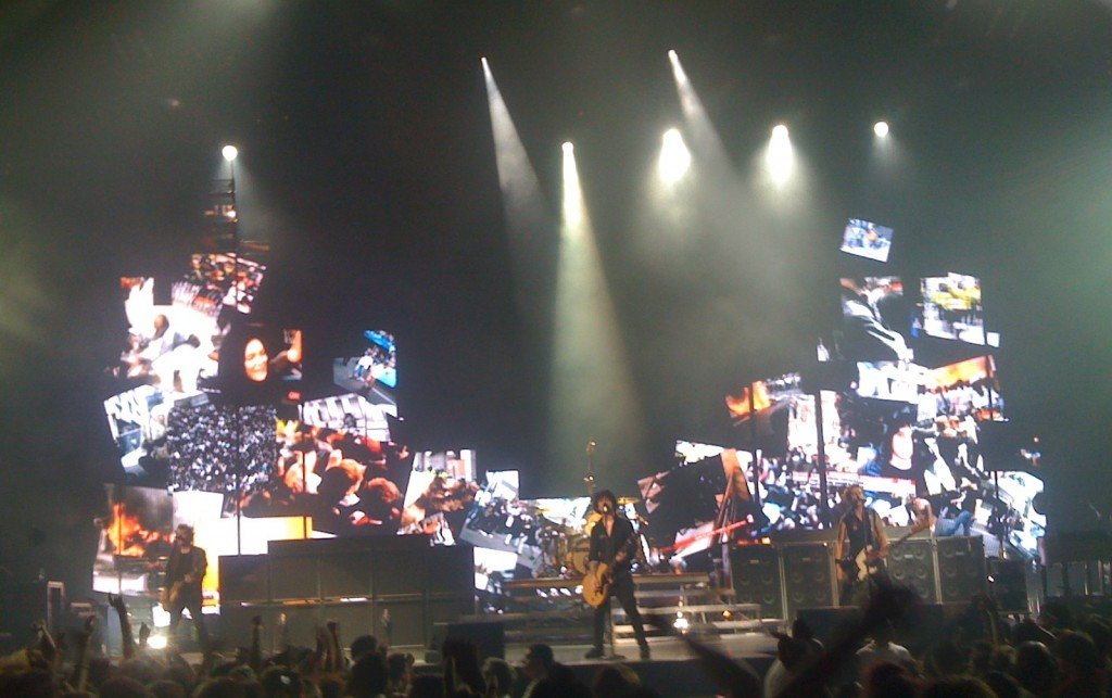 Green Day on August 3, 2009 at the St. Pete Times Forum in Tampa, FL