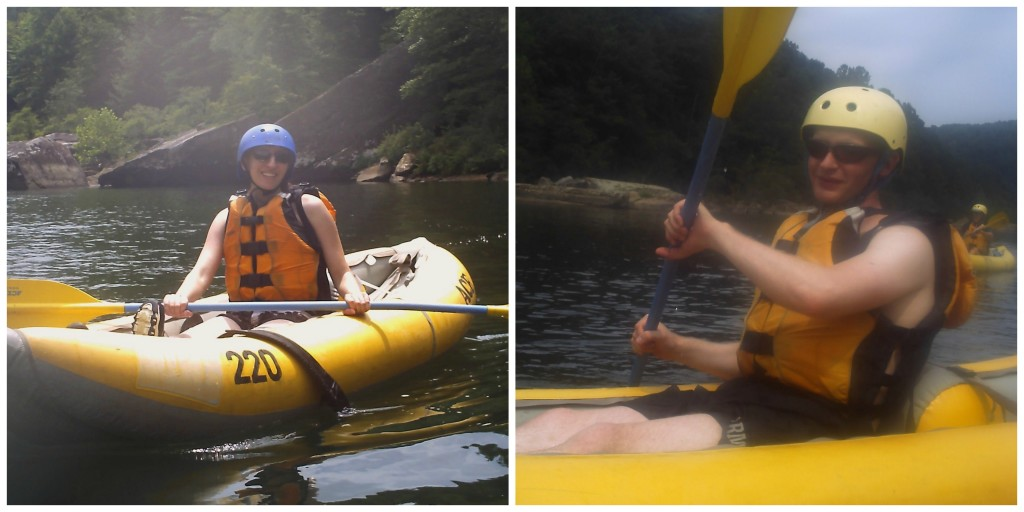 Me and Tim on the Gauley River in West Virignia, obviously between rapids.