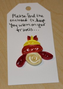 quilled gift tag inspired by jayne and his hat in firefly