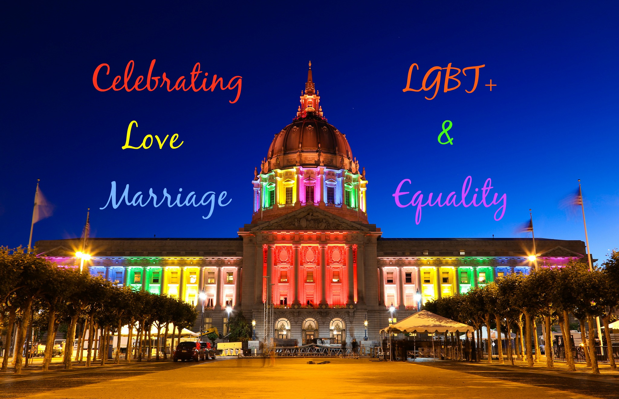 Celebrating LGBT+ Love & Marriage Equality [Photo adaptation of San Francisco Pride 2013 by Joe Parks via Flickr (creative commons)]