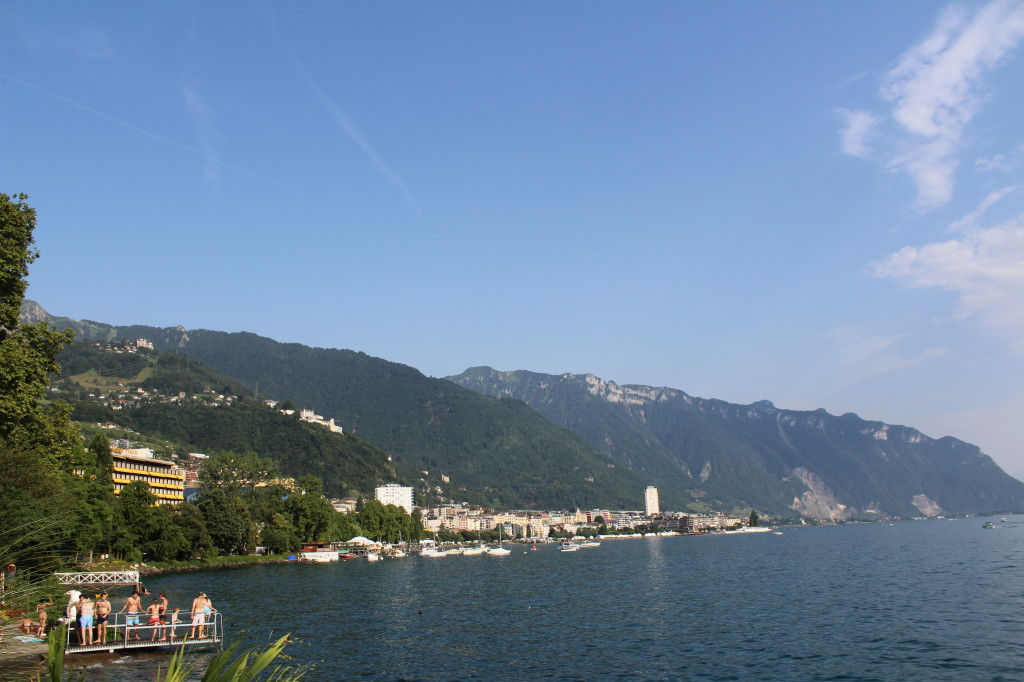 Montreux Lake Geneva Shoreline