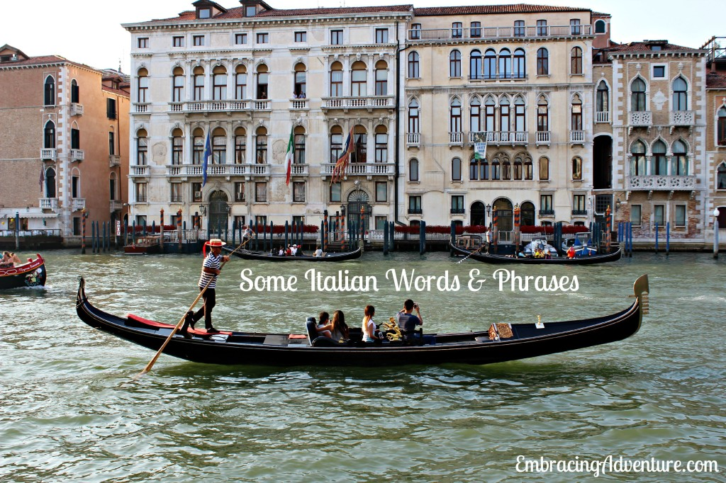 Some Italian Words & Phrases--Gondola in Venice, Italy