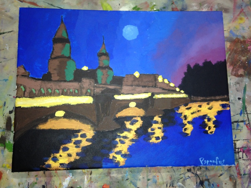 Painting of Dresden. Painted by Amanda Papenfus during class lead by Monique M Greathouse